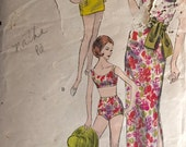 "Vintage 1960s Vogue Misses' Dress, Bathing Suit, and Tunic Pattern 5848 Size 12 (32"" Bust)"