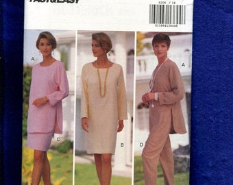 Butterick 6206 Easy Fitting Shirttail Hem Tunic Silm Skirt & Pants Size 18..20..22 UNCUT