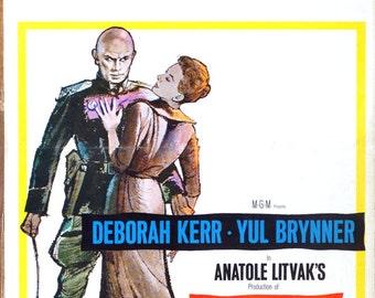 "Journey, The. 1958 Original 14""x22"" US Movie Poster. Military Romance.Deborah Kerr, Yul Brynner, Robert Morley, E.G. Marshall,Jason Robards."