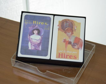 New and Sealed Hires Root Beer Promotional Playing Card Decks