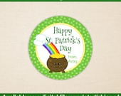St. Patrick's Day Stickers - Pot of Gold Stickers - Saint Patrick's Day Stickers - Rainbow Stickers - Digital and Printed
