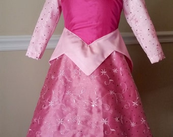 Sleeping Beauty Dress for Toddler Sizes 6 Months to 3t