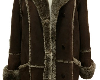 Givenchy Fourrure Brown Suede and Faux Coat