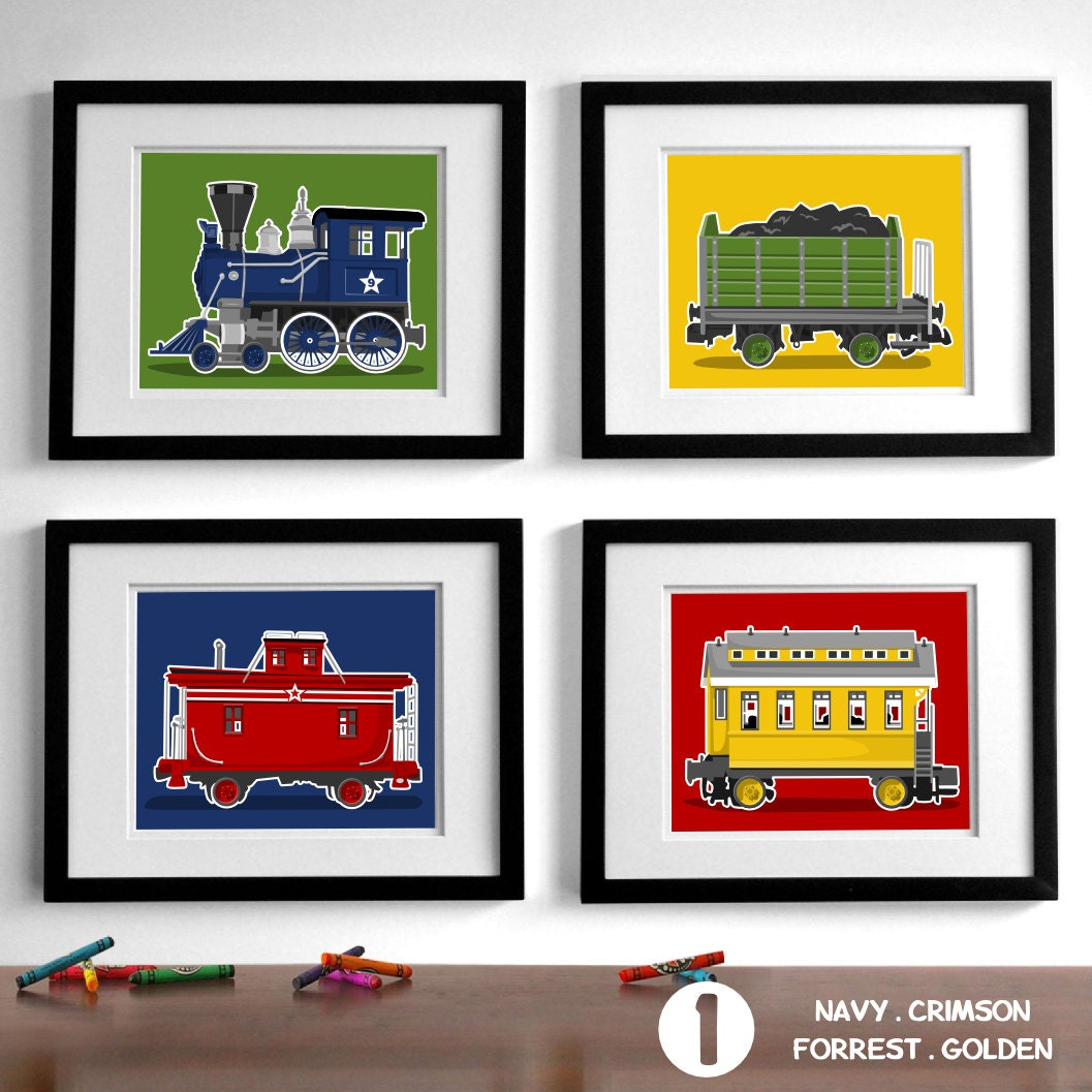 Train Wall Art train wall art transportation wall art prints boy's