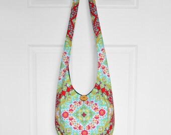 Hobo Bag Cross Body Bag Hippie Purse Sling Bag Boho Bag Slouch Bag Hobo Purse Hippie Bag Floral Hobo Bag Handmade Bag Bohemian Purse Hobo
