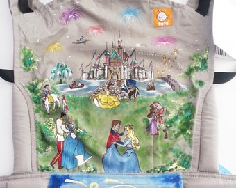 Disney Themed Custom Hand Painted Tula Baby Carrier ARTWORK ONLY