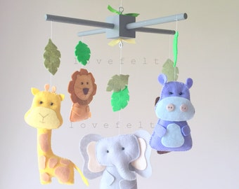 Baby Mobile - baby mobile jungle - Forest Mobile - Jungle Mobile - zoo mobile -  - forest mobile - safari mobile