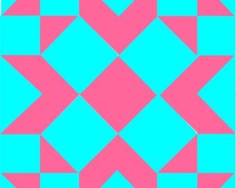 "9 -Different QUILT BLOCK Patterns #2 Old School Nine Patch  - 12"" blocks PDF E-Pattern"