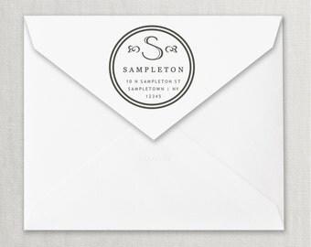 Monogram Address Stamp, Custom Return Address Stamp, Wedding address stamp, Unique and Modern Return Address Stamp