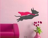 Dachshund Decal, Weiner Dog Sticker, Animal Wall Art, Dog Lover Gift A-117