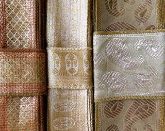 Gold Sari borders, Sari Fabric SR314