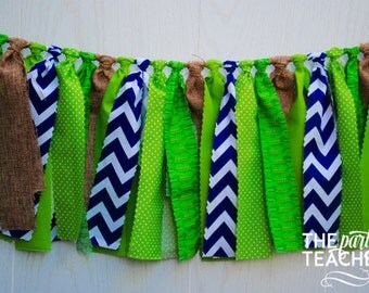 Alligator Fabric Bunting - FREE Shipping - Alligator Fabric Garland - Alligator Garland - Alligator Bunting - Alligator Party