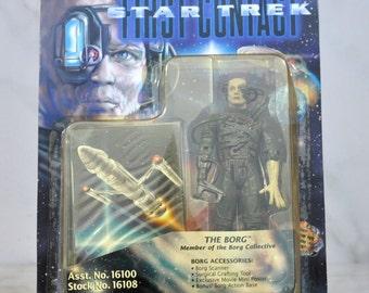 Vintage Star Trek Action Figure Playmates The Borg Member Of The Borg Collective 16100 16108 1996 - USS Enterprise - Captain Picard - Data