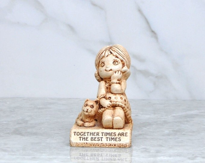 Vintage Paula 1983 688, Together Times Are The Best Times, Memories Figurine, Child, Mother, Mother's Day, Love, Happyiness, Resin