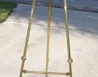Vintage 5 foot Brass Art Easel