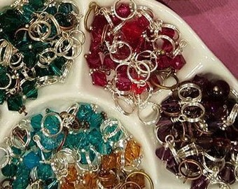 Wire Wrapped Swarovski Bicone Birthstone Crystals 6MM