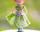 Redhead Girl Cake Topper