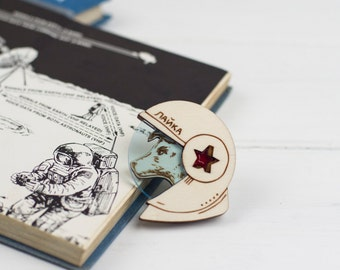 Laika the Space Dog Brooch
