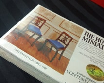 Lyre Back Chairs ~ Vintage 1979 The House of Miniatures Kit No. 40044 ~ Miniature Reproduction Dollhouse Furniture