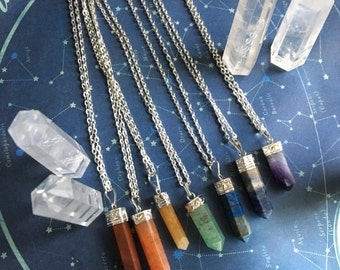 BALANCE chakra energy balancing necklace rainbow * choose the crystal you are drawn to