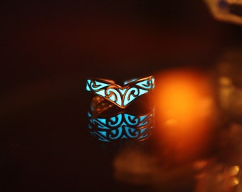 "CELTIC ""V"" Toe Ring GLOW in the DARK Sterling Silver"