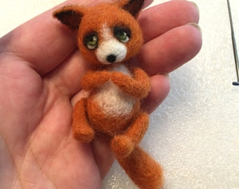 Fox, Red Fox, Mini Toy, CUSTOM ORDER ONLY by Marina Lubomirsky