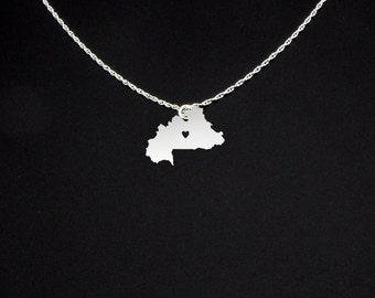 Burkina Faso Necklace - Burkina Faso Jewelry - Burkina Faso Gift