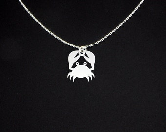 Crab Necklace - Crab Jewelry - Crab Gift