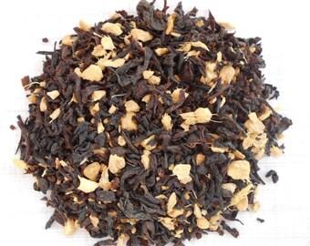 GINGER EARL Grey Tea, Organic Loose Leaf Black Tea, Hand Blended, Spice Earl Grey, 1oz, Earth friendly packaging