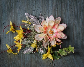 Woodland Wedding Flower Hair Clip,Fascinator,Woodland Fascinator,Flower Clip,Fairy Costume,Wedding Headpiece,Photo Prop,Rustic Wedding