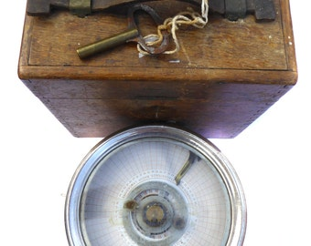 Toulet Imperator Pigeon Racing Clock in a Wooden Carrying Case Checked by The Automatic Timing Clock Co Bacup Lancashire