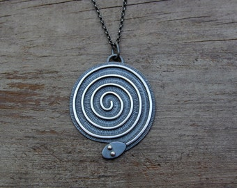 Coiled Serpent necklace #2