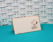 Handmade Set of 8 Snoopy Place Cards