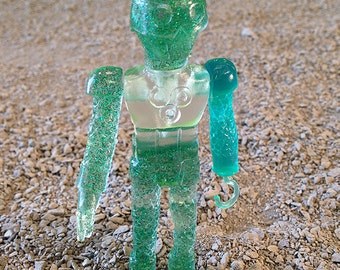 SEA-BORG MUTATION  Wave 2 Plastic Resin Figure - green glitter skull