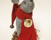 Santa Mouse Made To Order, Primitive Santa Claus Mouse, Christmas Santa Mice