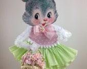 Spring Retro Bunny Decoration