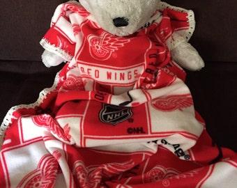 Detroit Red Wings Hockey Fleece Sports Baby Blanket