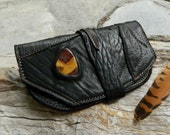 RESERVED Medicine Pouch Set of Stones Australian Opal Potch, Agate and Amazonite OOAK by Ariom Designs