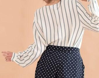Polka dot shorts // 80s // M size