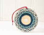 Christmas Ornament Kit, String Art Ornament, DIY Craft Kit, Star Ornament