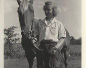 Her Sleeping Prince - Vintage 1940s Woman and Horse Photographs, Set of Three