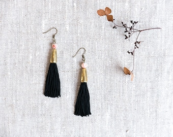 KOMI Agate Tassel Earrings