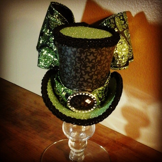 Lime Green Mini Top Hat