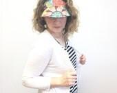 Women's Sun Visor, Adjustable Visor for Women, Sun Visor, Reversible Visor for Women, Beach Visor Hat, Vacation Visor, Sun Hat, Fabric Visor