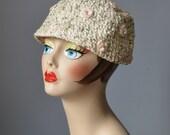 Floral Bucket Hat / Vtg 6...