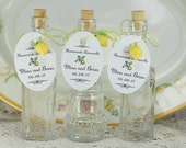 Custom Limoncello Tags 10 Limoncello Tags 10 Lemon Charms Twine Limoncello Favors Customized Limoncello Tags Order As Many As Needed