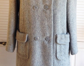 1970s Alpaca Mohair Grey Coat