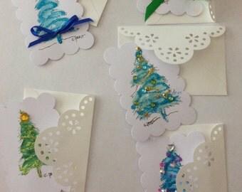 Christmas gift cards set of 5