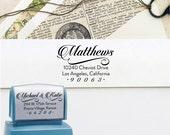 Custom Address Stamp - Gaudy Script Self Inking Return Address Stamp