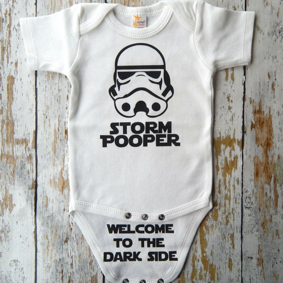 Star Wars Onesie Funny Storm Pooper Baby Onesie Funny Baby